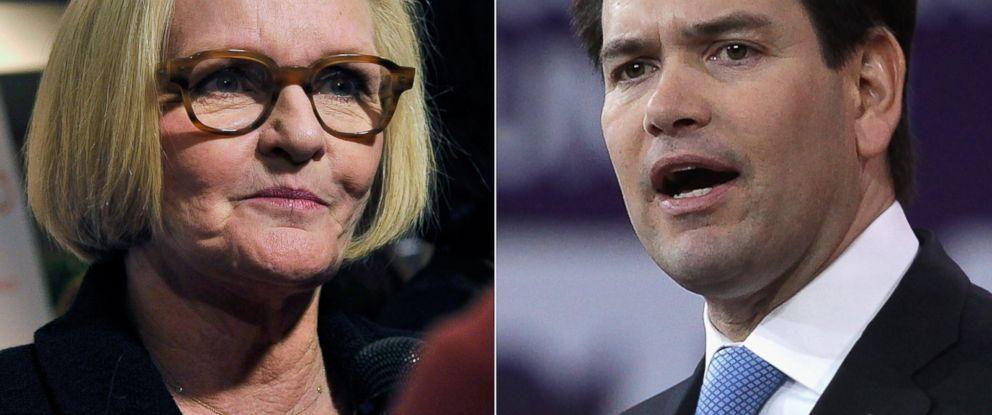PHOTO: Sen. Claire McCaskill | Sen. Marco Rubio