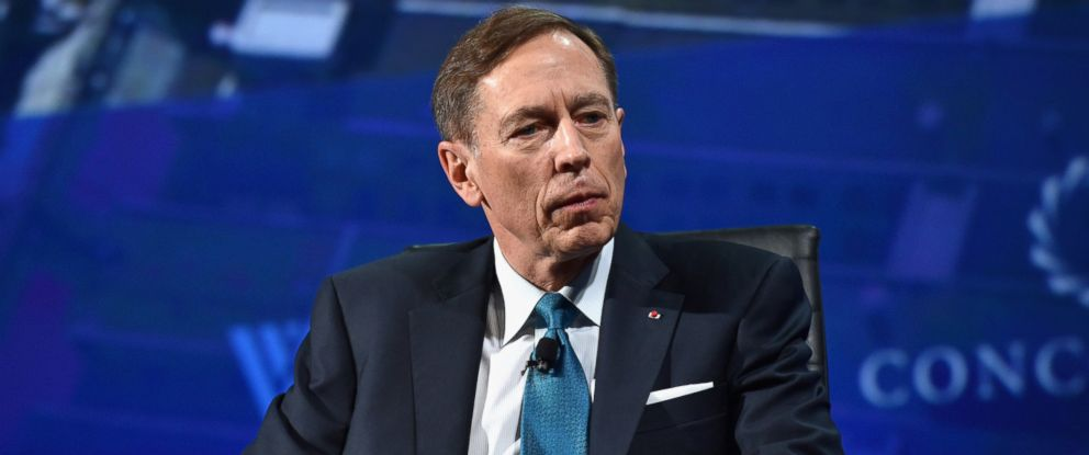PHOTO: Former Director, Central Intelligence Agency Gen. (Ret.) David H. Petraeus speaks at the 2016 Concordia Summit - Day 1 at Grand Hyatt New York, Sept. 19, 2016 in New York City.