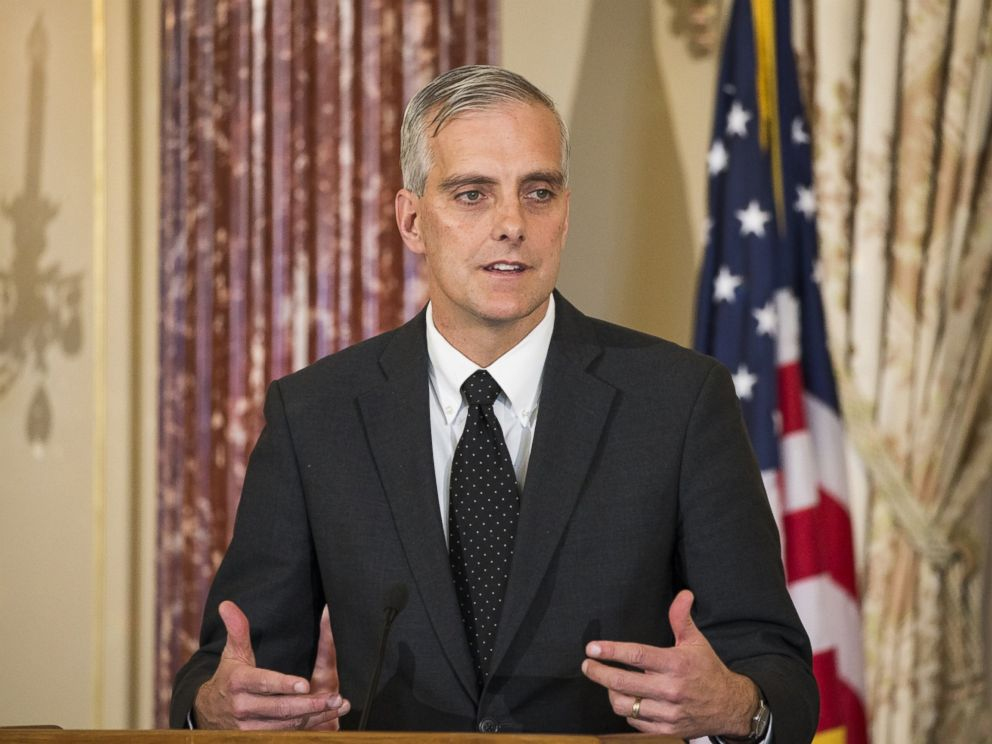 PHOTO: White House Chief of Staff Denis McDonough speaks during an event at the Department of State in Washington, Nov. 16, 2015.