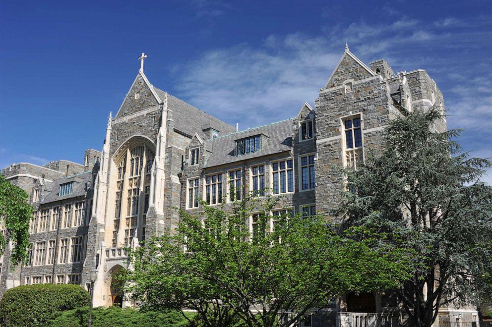 PHOTO: White-Gravenor Hall of Georgetown University is shown.