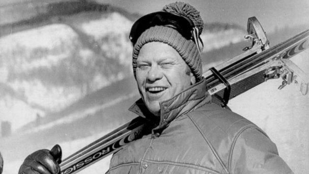PHOTO: Gerald Ford as he completed his family day of skiing at Vail, Colo., Jan. 9, 1975.