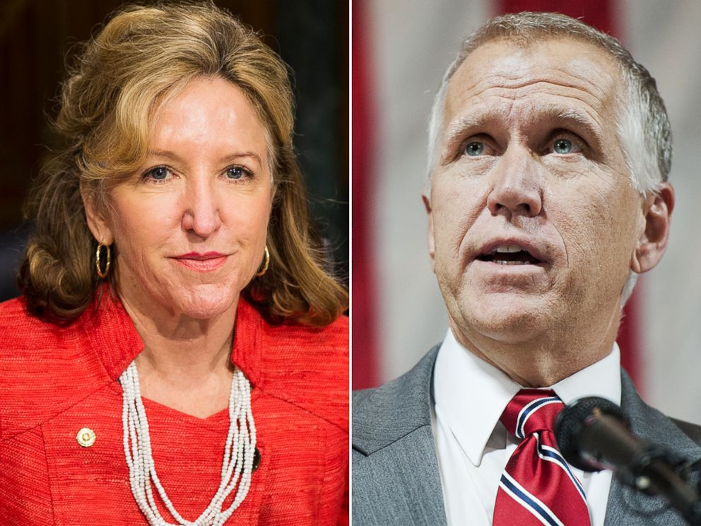 PHOTO: Kay Hagan and Thom Tillis