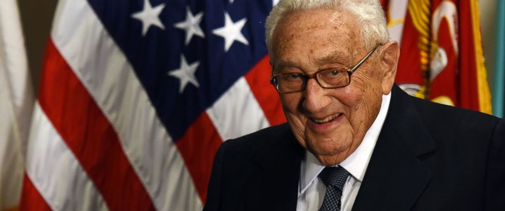 PHOTO:Former U.S. Secretary of State Henry Kissinger is seen at an award ceremony hold by U.S. Defense Secretary Ash Carter honoring him for his years of distinguished public service at the Pentagon in Washington, May 9, 2016.