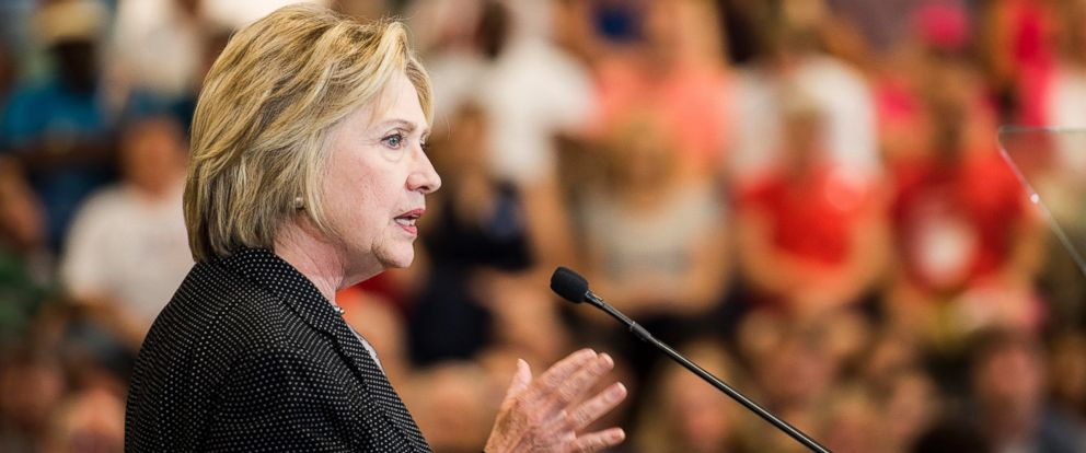 PHOTO: Former Secretary of State Hillary Clinton delivers an economic speech at Fort Hayes Metropolitan Education Center in Columbus, June 21, 2016.