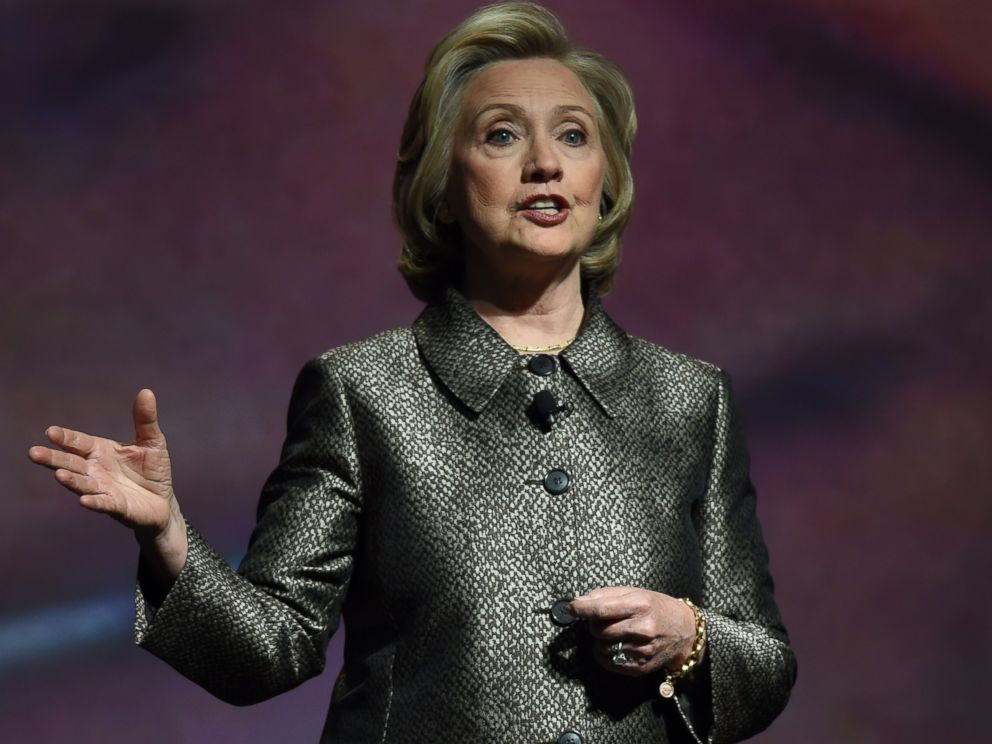 PHOTO: Hillary Clinton speaks at a womens equality event, March 9, 2015 in New York.