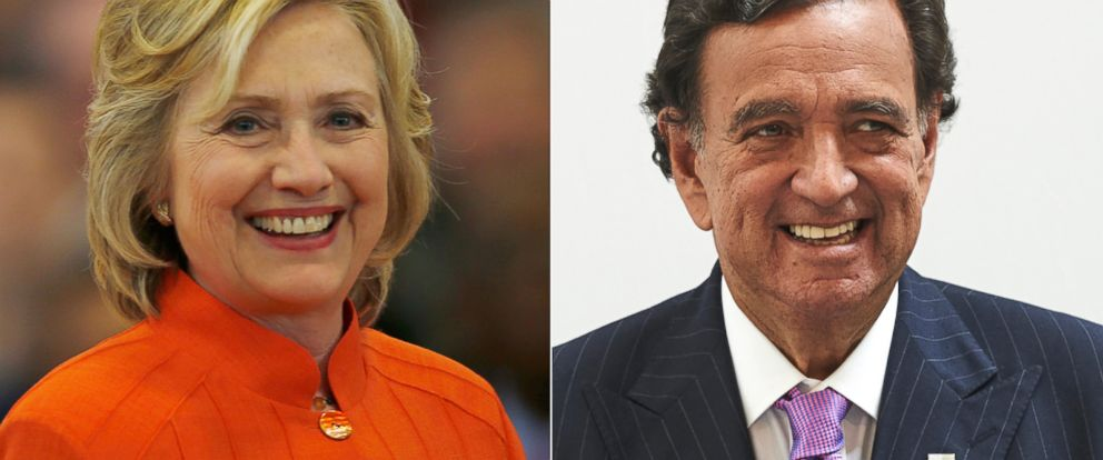 PHOTO: Democratic presidential candidate and former U.S. Secretary of State Hillary Clinton in North Las Vegas, Nevada, Aug. 18, 2015. | Former New Mexico Governor Bill Richardson in Madrid, June 17, 2015.