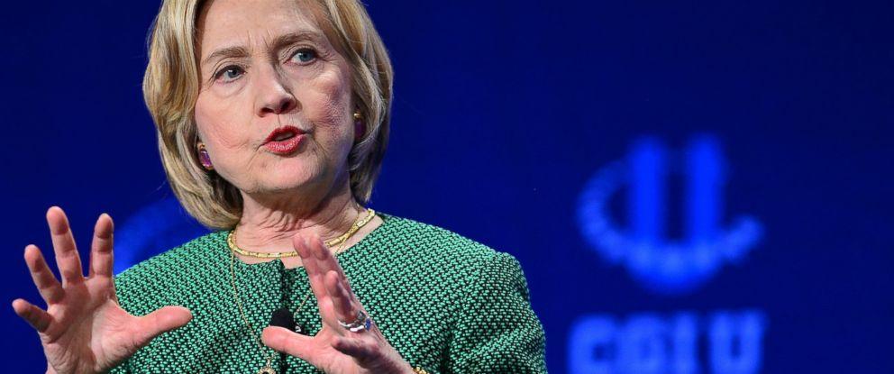 PHOTO: Former U.S. Secretary of State Hillary Rodham Clinton
