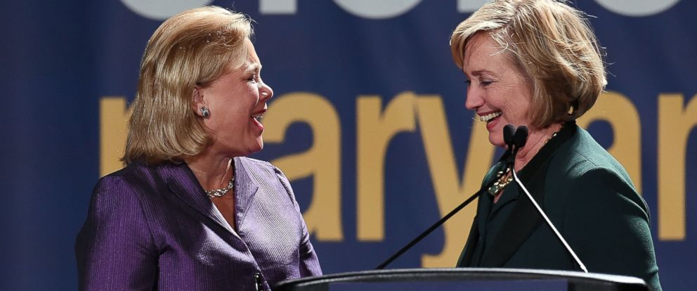 PHOTO: Mary Landrieu, left, is pictured with Hillary Clinton, right, on Nov. 1, 2014 in New Orleans.