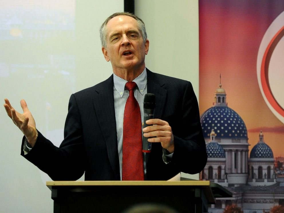 PHOTO: Jared Taylor speaks during the International Russian Conservative Forum in Saint-Petersburg on March 22, 2015.