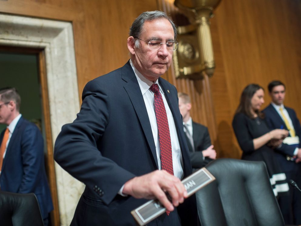 PHOTO: John Boozman, R-Ark., arrives for a Financial Services and General Government Subcommittee hearing on the Treasury Departments FY2017 budget request, March 8, 2016.