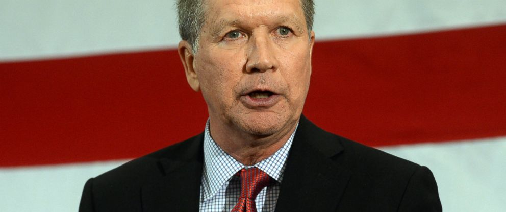 PHOTO: Ohio Gov. John Kasich speaks at the First in the Nation Republican Leadership Summit April 18, 2015 in Nashua, N.H.