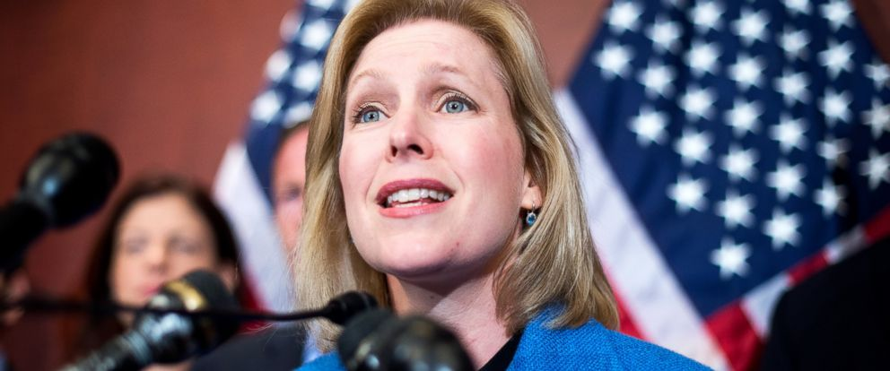 PHOTO: Sen. Kirsten Gillibrand, D-N.Y., speaks during a news conference to introduce legislation that aims to curb sexual assaults at universities, July 30, 2014, in Washington.