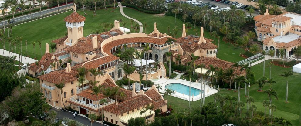 PHOTO: Aerial view of Mar-a-Lago is seen here in Palm Beach, Florida.