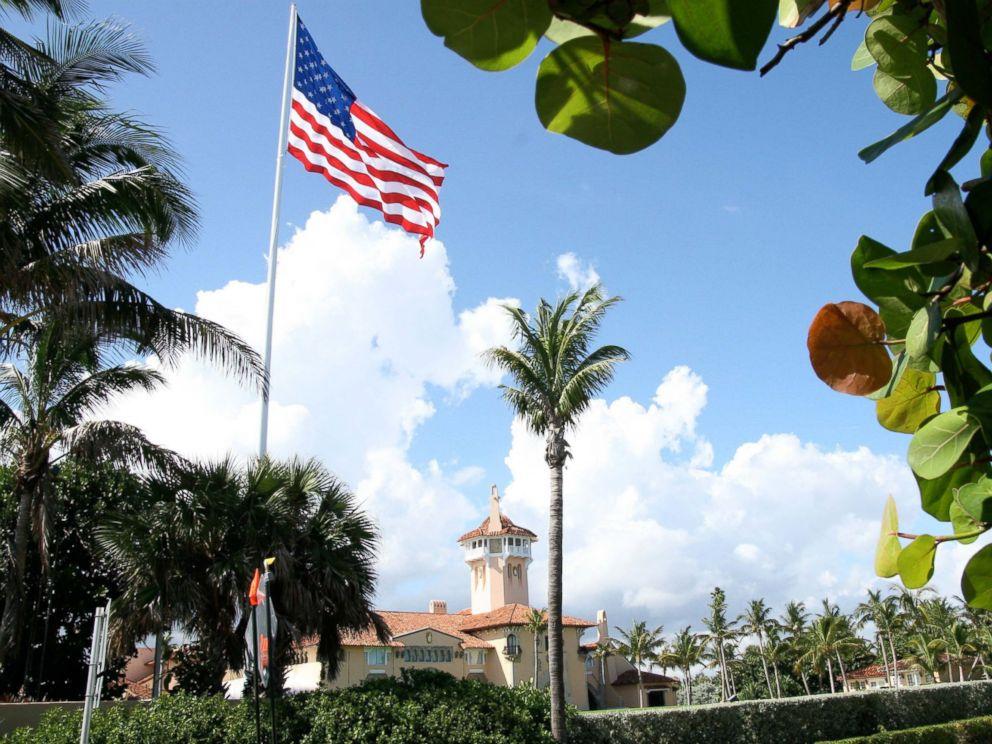 PHOTO: An American flag flies over Donald Trumps Mar-A-Lago club in Palm Beach, Florida.