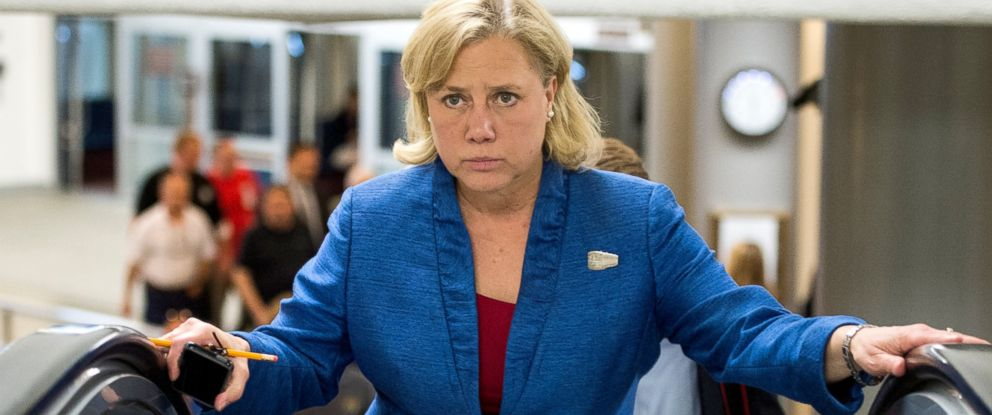 PHOTO: Sen. Mary Landrieu, D-La., walks to the Senate floor for a vote, May 13, 2014.