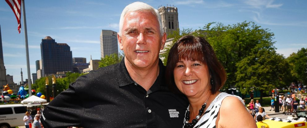 PHOTO: Mike Pence and wife Karen Pence attends the 2014 IPL 500 Festival Parade during the 2014 Indy 500 Festival, May 24, 2014, in Indianapolis, Indiana.