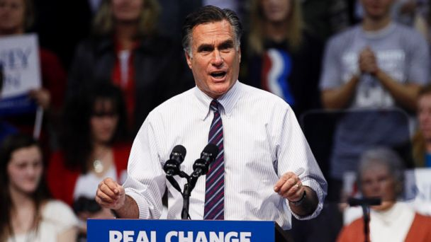 PHOTO: Mitt Romney is pictured giving a speech in Manchester, N.H. on Nov. 6, 2012.