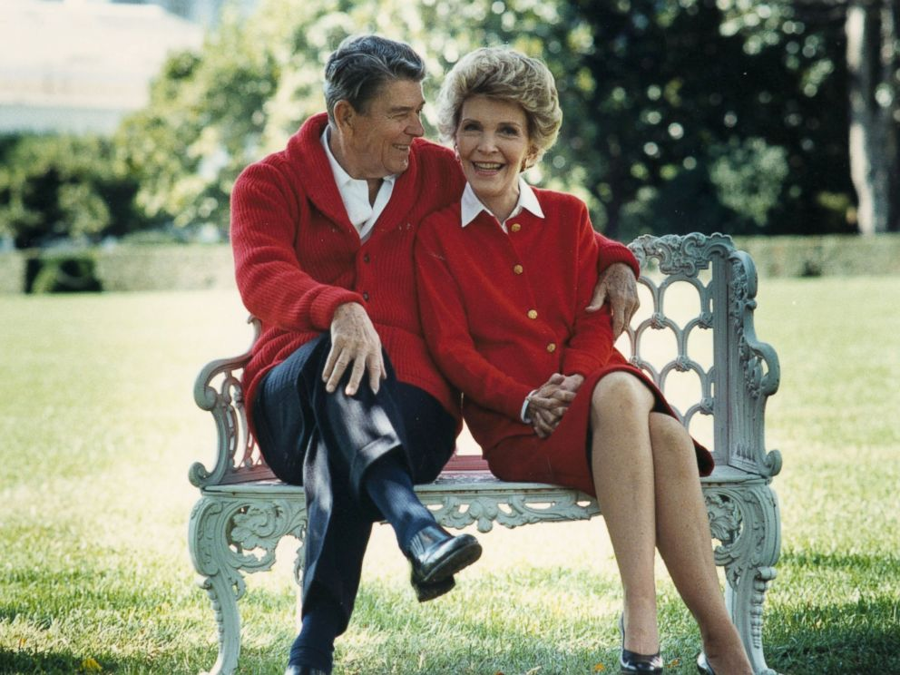 PHOTO:Ronald Reagan and First Lady Nancy Reagan share a moment in this undated file photo.