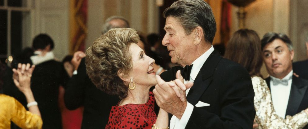 PHOTO: Former President Ronald Reagan dances with former first lady Nancy Reagan in this undated file photo.