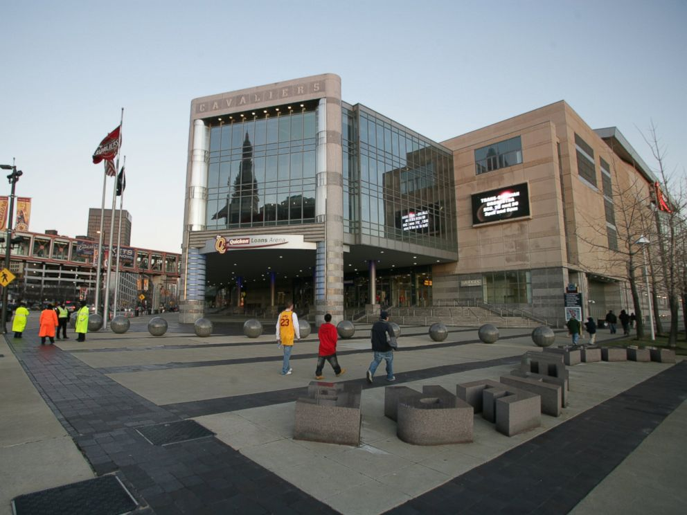 PHOTO: Daytime shot of the exterior of The Quicken Loans Arena in Cleveland, Dec. 28, 2008.