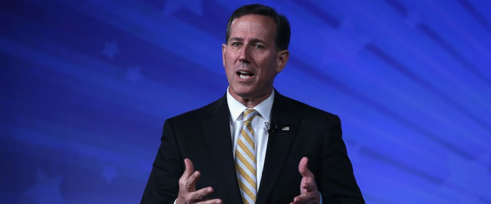 PHOTO: Former Sen. Rick Santorum, R-PA, speaks during the 2015 Southern Republican Leadership Conference in Oklahoma City, May 21, 2015.