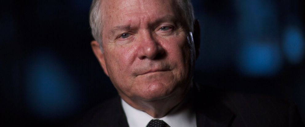 """PHOTO: Former Director of Central Intelligence under President George H.W. Bush, Robert Gates is interviewed for """"The Spymasters,"""" in Mt. Vernon, Washington, Dec. 15, 2014."""
