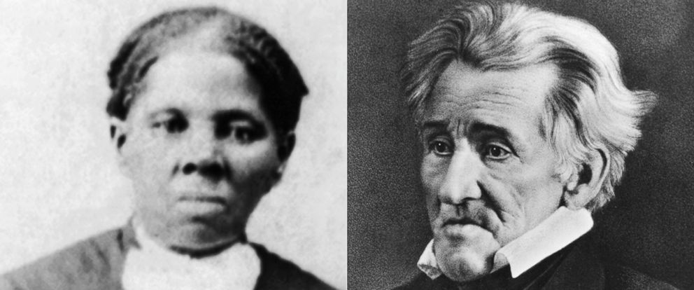 PHOTO: A portrait of Harriet Tubman, African-American abolitionist and a Union spy during the American Civil War, circa 1870. Andrew Jackson (1767 - 1845), the 7th President of the United States of America, circa 1844.