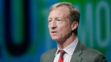 PHOTO: Tom Steyer introduces a panel during the National Clean Energy Summit 6.0 at the Mandalay Bay Convention Center, Aug. 13, 2013 in Las Vegas.