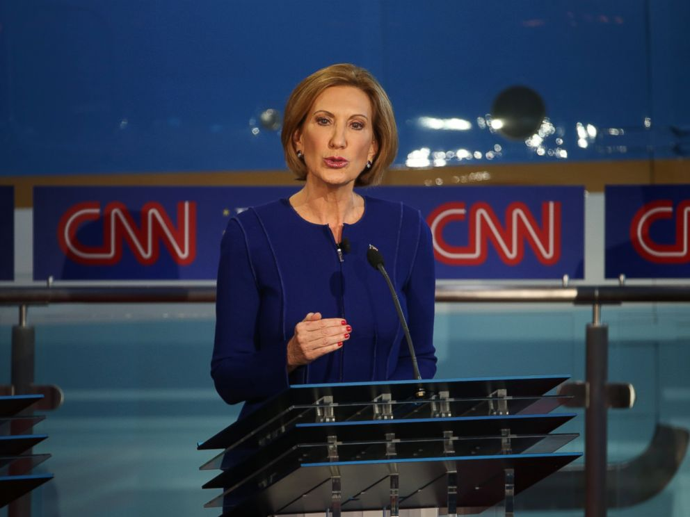 PHOTO:Carly Fiorina takes part in the presidential debates at the Reagan Library, Sept. 16, 2015, in Simi Valley, Calif.