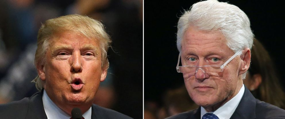 PHOTO: Donald Trump and former President Bill Clinton.