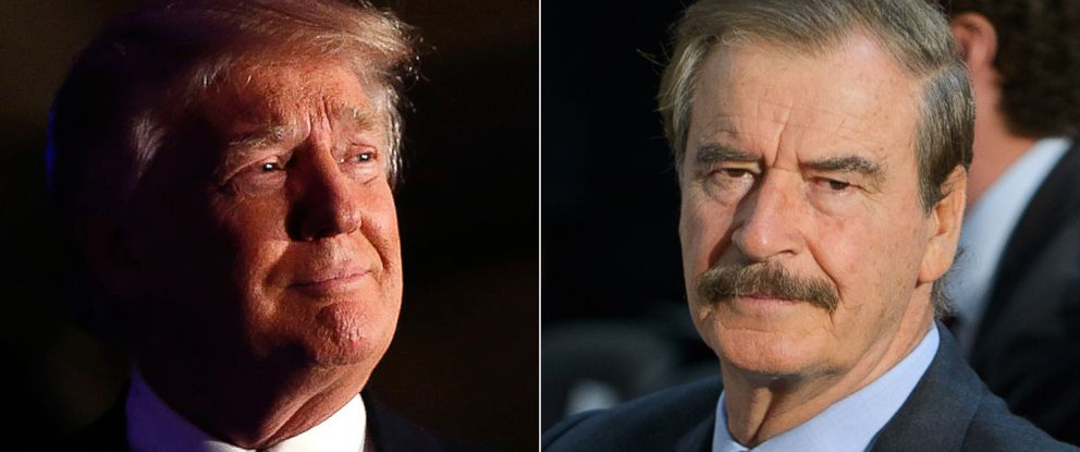 PHOTO: Donald Trump and Vicente Fox are seen here.