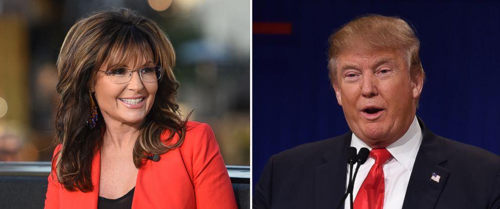 PHOTO: Sarah Palin and Donald Trump.