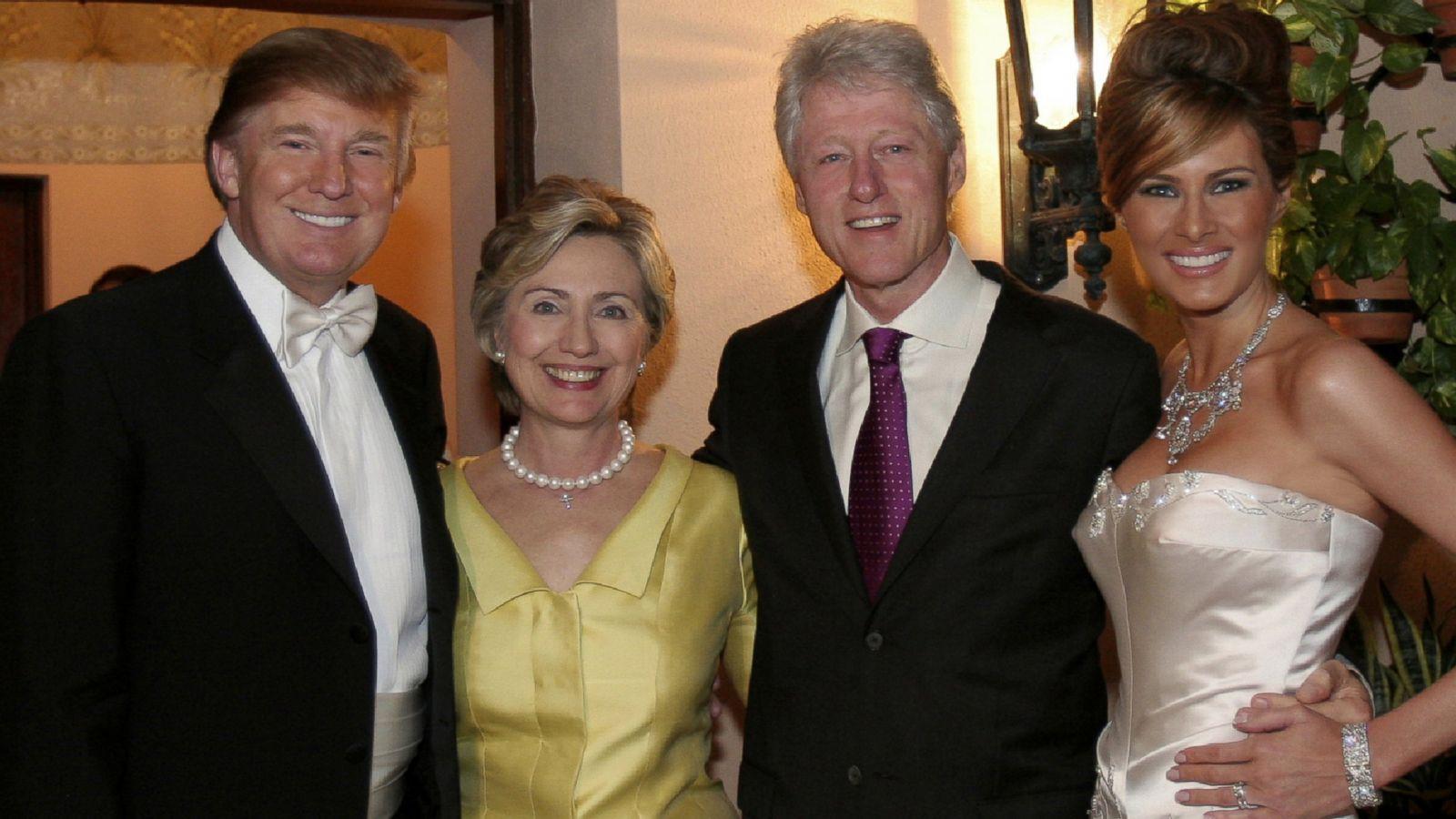 Donald Trump Says His Money Drew Hillary Clinton to His Wedding - ABC News