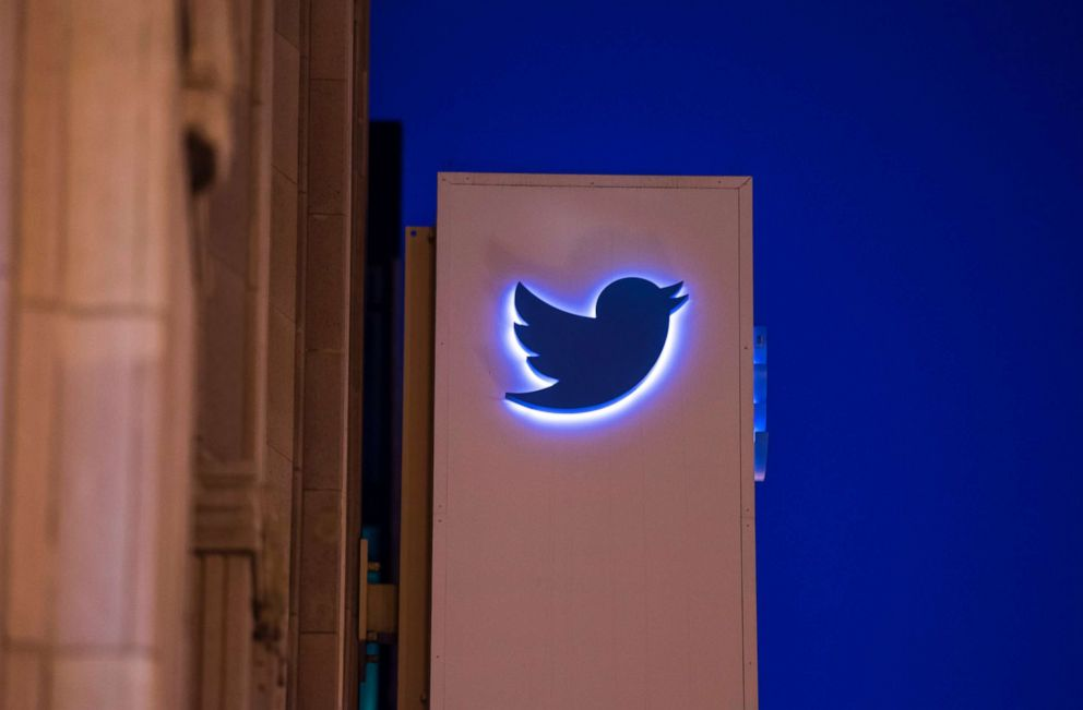 PHOTO: Twitter Inc. signage is displayed outside of the companys headquarters in San Francisco, Oct. 21, 2015.