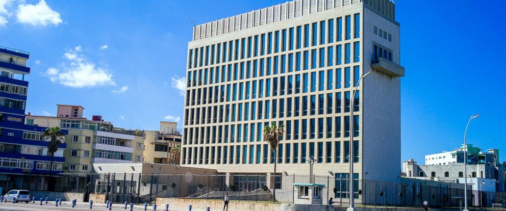 PHOTO: A general view of The American Embassy, Dec. 18, 2014 in Havana, Cuba.