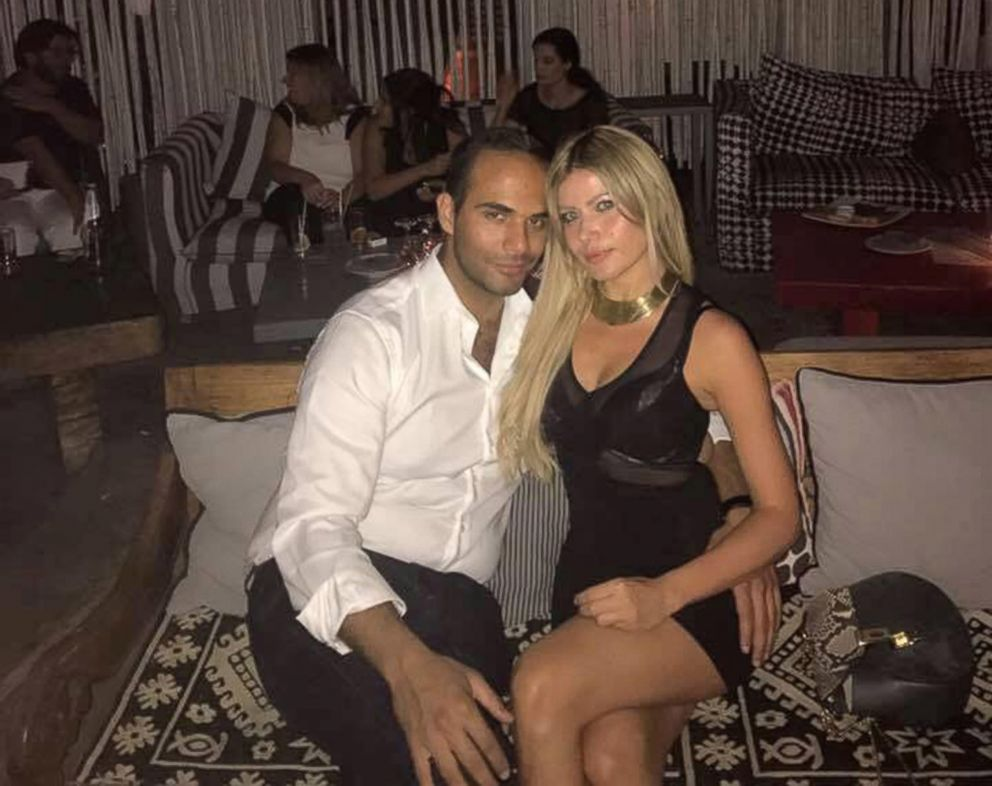 PHOTO: George Papadopoulos is seen with his wife Simona Papadopoulos.