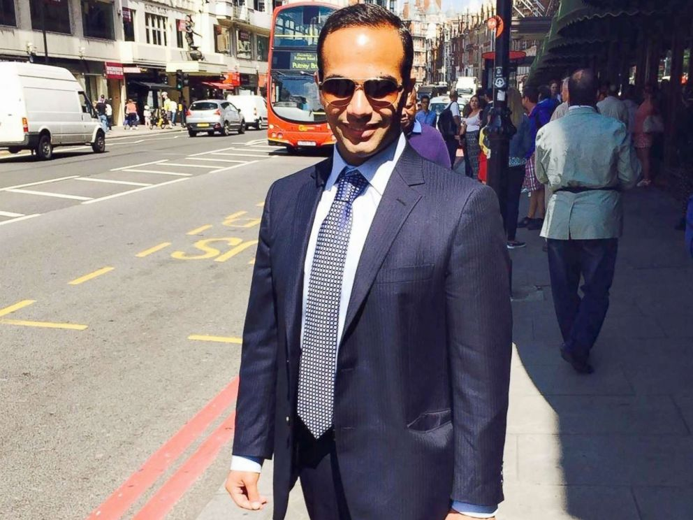 PHOTO: This undated image posted on his Linkedin profile shows George Papadopoulos posing on a street of London. <p itemprop=