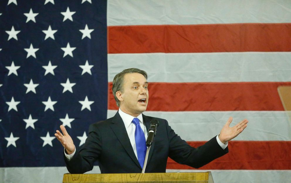 PHOTO: Kansas Gov. Jeff Colyer delivers a speech after his swearing in on Jan. 31, 2018, becoming the 47th governor of Kansas.