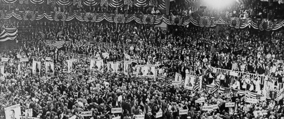 PHOTO: The floor of the Democratic National Convention at Madison Square Garden in 1924.