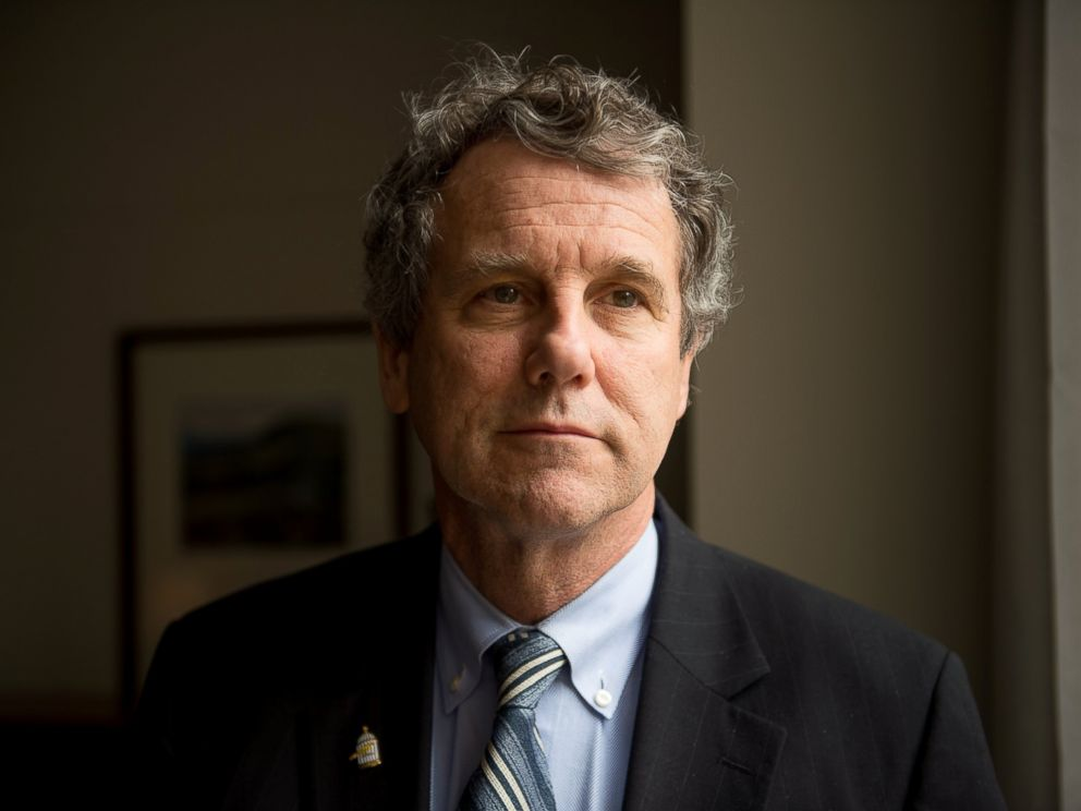PHOTO: Ohio Senator Sherrod Brown poses for a portrait in his offices on Capitol Hill, Jan. 27, 2015, in Washington.