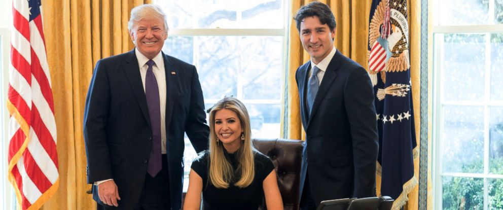 "PHOTO: Ivanka Trump posted this photo on Twitter with this caption: ""A great discussion with two world leaders about the importance of women having a seat at the table!"" Feb. 13, 2017."