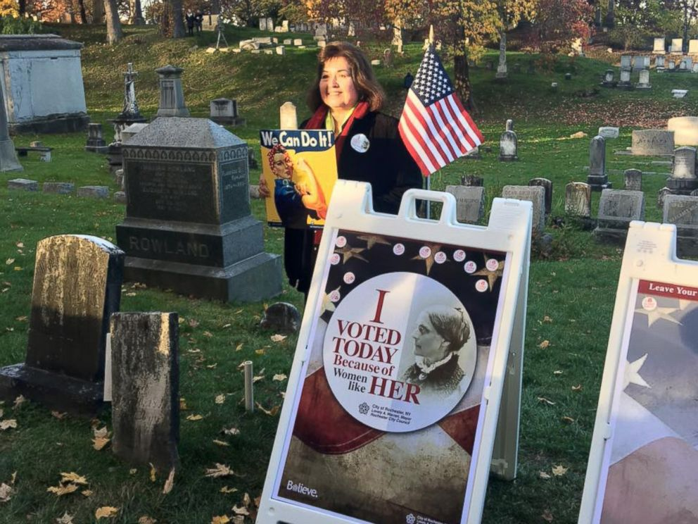 PHOTO: The City of Rochester Mayors office says thousands of people made their way to Susan B. Anthonys grave to honor the late suffragette.