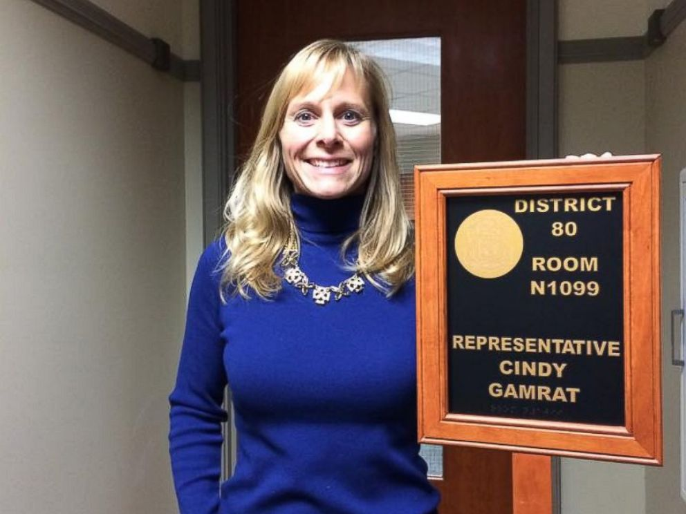 Cindy Gamrat, a homemaker from Allegan, Michigan, took 63 percent of the vote in the 80th district.