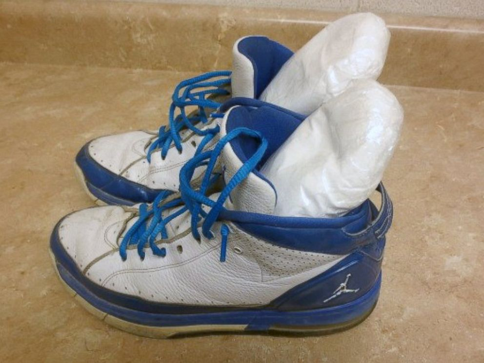 PHOTO: CBP officers found 2.4 pounds of methamphetamine in sneakers on July, 2, 2015.