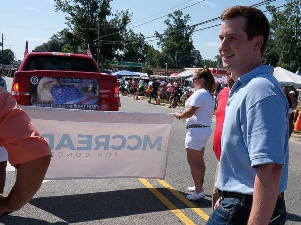 PHOTO: Dan McCready, a father of four, campaigns in North Carolina.