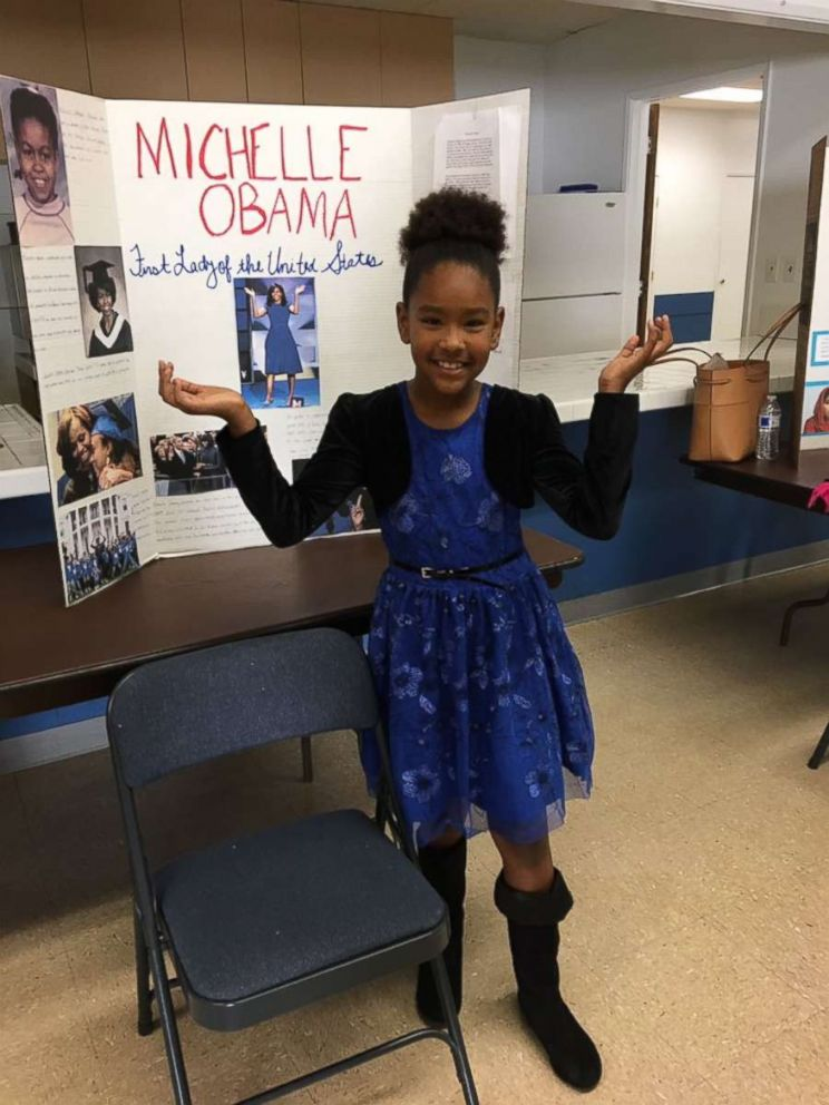 PHOTO: Former first lady Michelle Obama responded to this third-graders  project about her