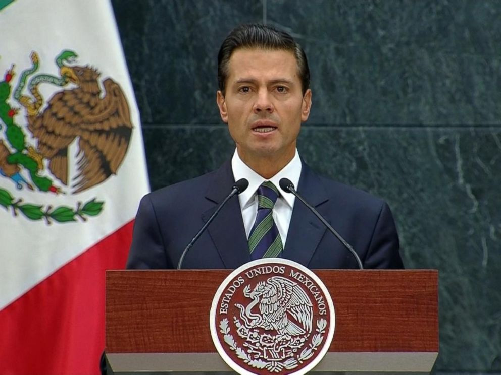 PHOTO: President Enrique Pena Nieto speaks during a press conference, on Aug. 31, 2016, in Mexico City.