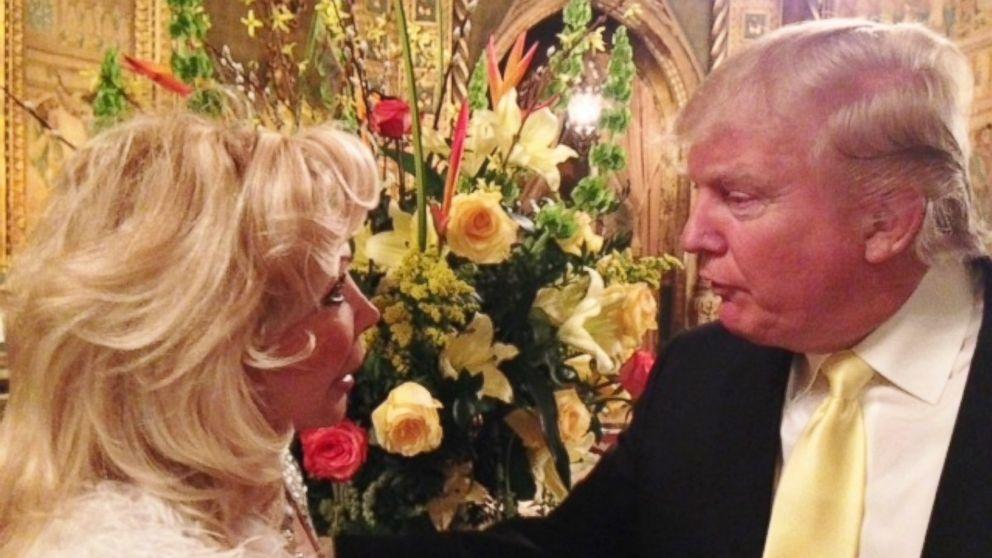 Trumpettes founder Toni Halt Kramer is pictured here talking to Donald Trump.