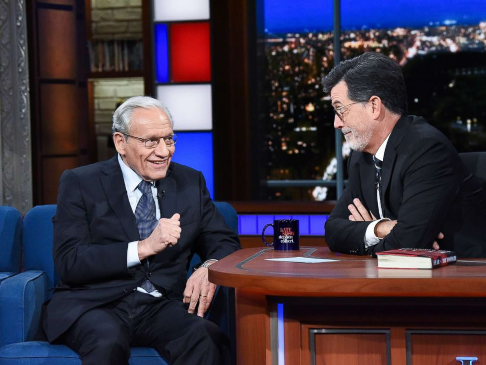 Journalist and author Bob Woodward stopped by The Late Show on Monday to discuss his new book, Fear: Trump in the White House.