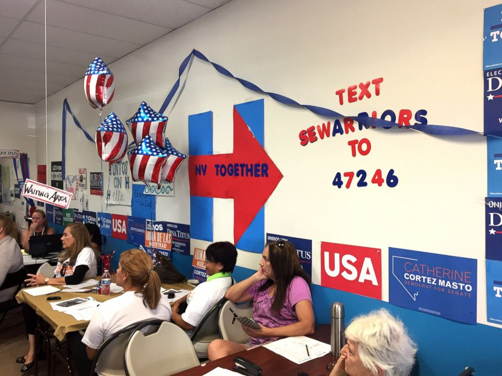PHOTO: Volunteers in Nevada make calls for the full Democratic ticket, which in Clark County is a fully female ballot.